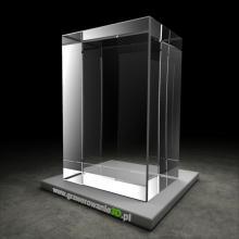 Kryształowy prostopadłościan do grawerowania 3D