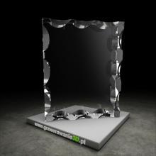 Kryształowy prostopadłościan fazowany do grawerowania laserowego 3D