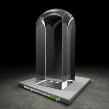 Krysztalowy obelisk do laserowego grawerowania 3D
