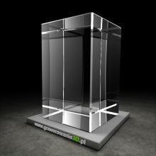 Kryształowy prostopadłościan klasyczny do grawerowania 3D