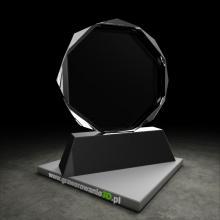 Statuetka kryształowa okrągła do grawerowania 2D