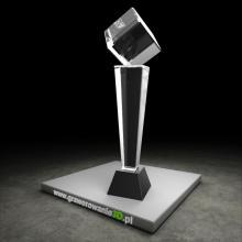 Kryształowy puchar na laserowe grawerowanie 3D